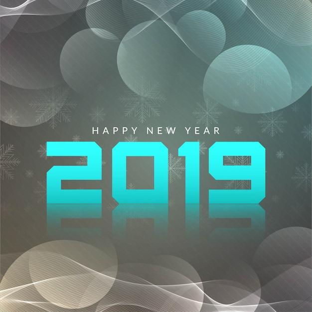 Bonne année 2019 fond de vecteur moderne Vecteur gratuit