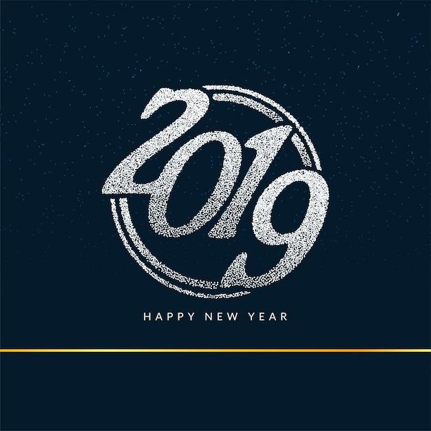 Bonne année 2019 fond de voeux élégant Vecteur Premium