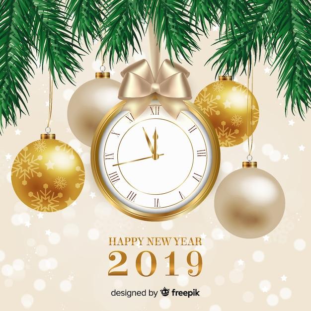 Bonne année 2019 Vecteur gratuit