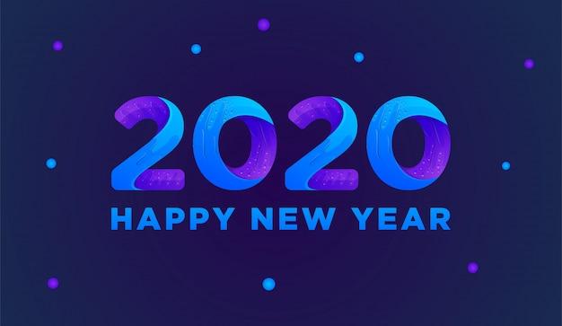 Bonne Année 2020 Carte De Voeux Colorée Vector Vecteur Premium