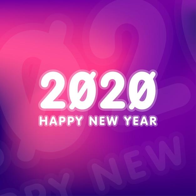 Bonne année 2020 fond illustration vecteur Vecteur Premium