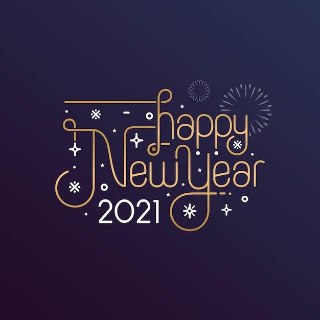 Bonne Année 2021 Célébration De Voeux Vecteur Premium