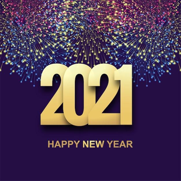 Bonne Année 2021 Fond De Célébration De Vacances Vecteur gratuit