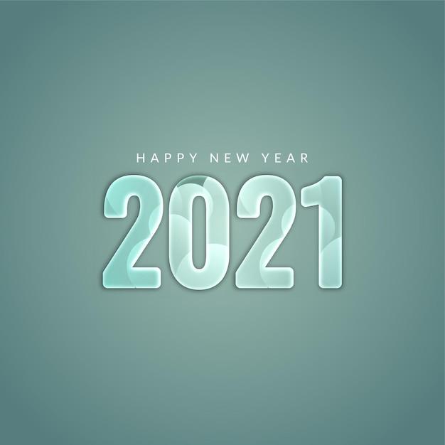 Bonne Année 2021 Fond élégant Moderne Vecteur gratuit