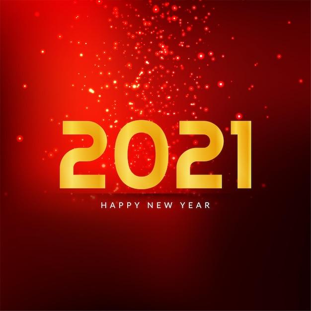 Bonne Année 2021 Fond D'étincelle De Couleur Rouge Vecteur gratuit