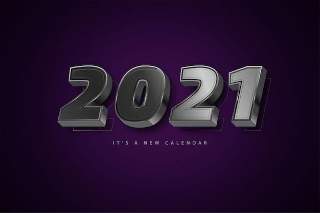 Bonne Année 2021 Fond De Luxe Argent Vecteur Premium