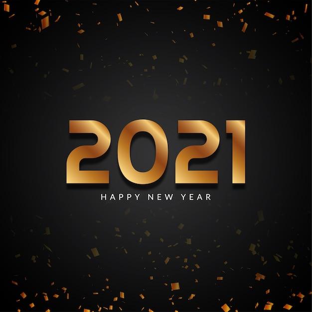 Bonne Année 2021 Fond Moderne De Texte Doré Vecteur gratuit