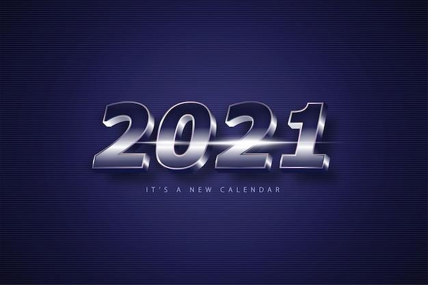Bonne Année 2021, Fond De Vacances Vecteur Premium