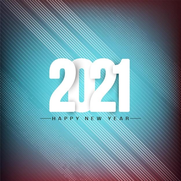 Bonne Année 2021 Fond De Voeux élégant Vecteur gratuit