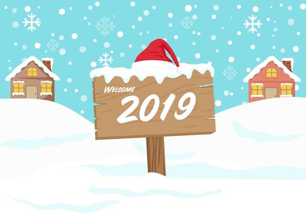 Bonne Année, Bienvenue 2017 Vecteur Premium