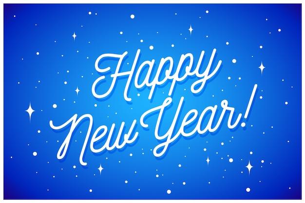 Bonne Année. Carte De Voeux Avec Inscription Happy New Year. Style De Mode Pour Thème De Bonne Année Ou Joyeux Noël. Fond De Vacances, Bannière, Carte Et Affiche. Vecteur Premium