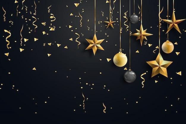 Bonne année et joyeux noël. Vecteur Premium