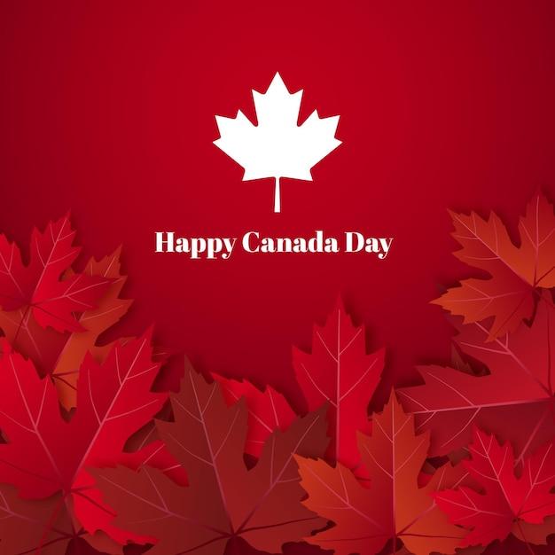 Bonne Fête Du Canada Avec Feuille D'érable Vecteur Premium