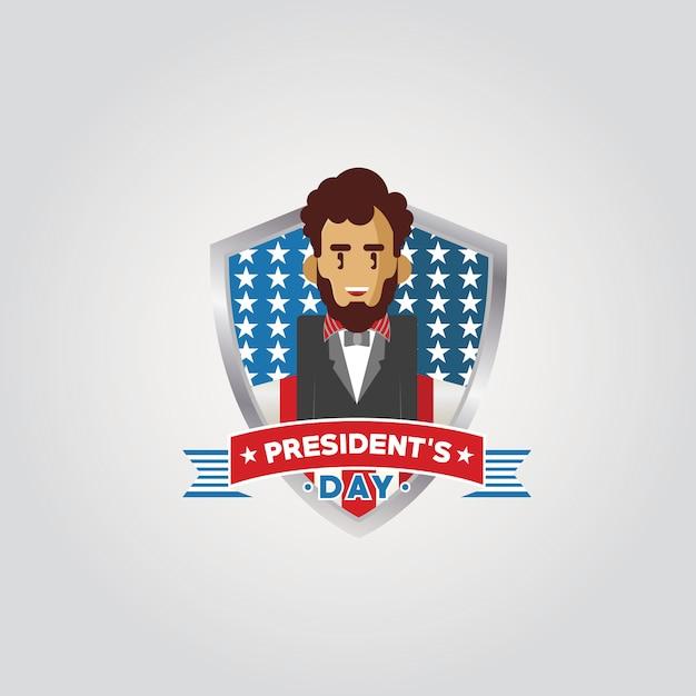 Bonne fête du président Vecteur Premium