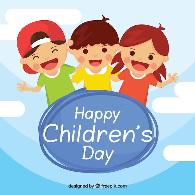 Bonne fête des enfants Vecteur gratuit