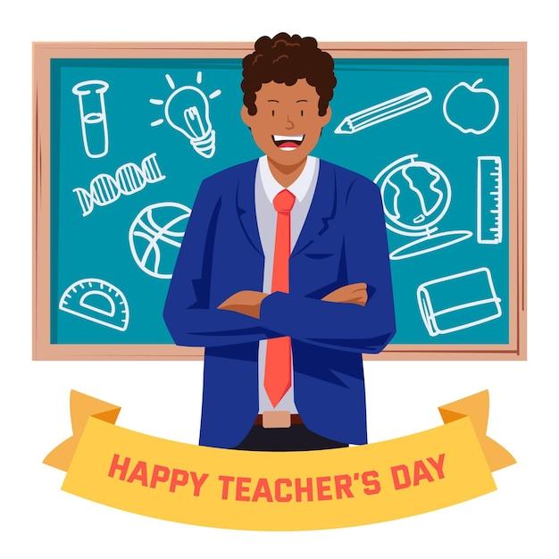 Bonne Fête Des Enseignants Vecteur Premium