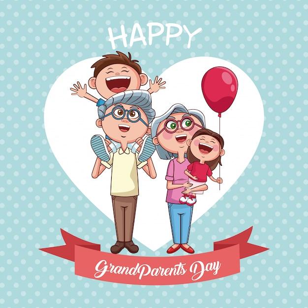 Bonne fête des grands-parents Vecteur Premium