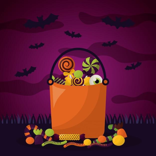 Bonne fête d'halloween Vecteur gratuit