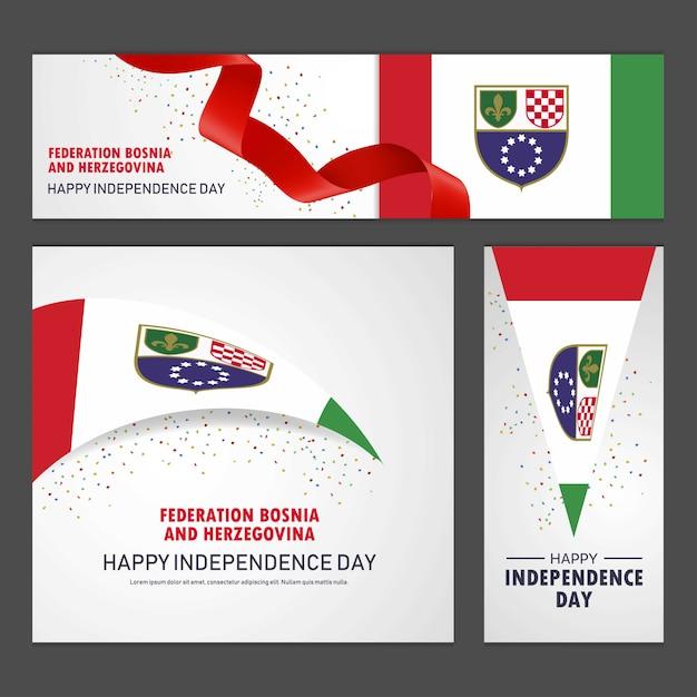 Bonne fête de l'indépendance en bosnie-herzégovine Vecteur gratuit