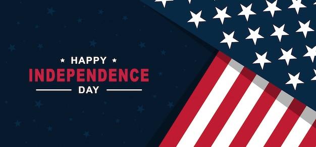 Bonne Fête De L'indépendance Des états-unis D'amérique Le 4 Juillet Avec Le Drapeau Américain Vecteur Premium
