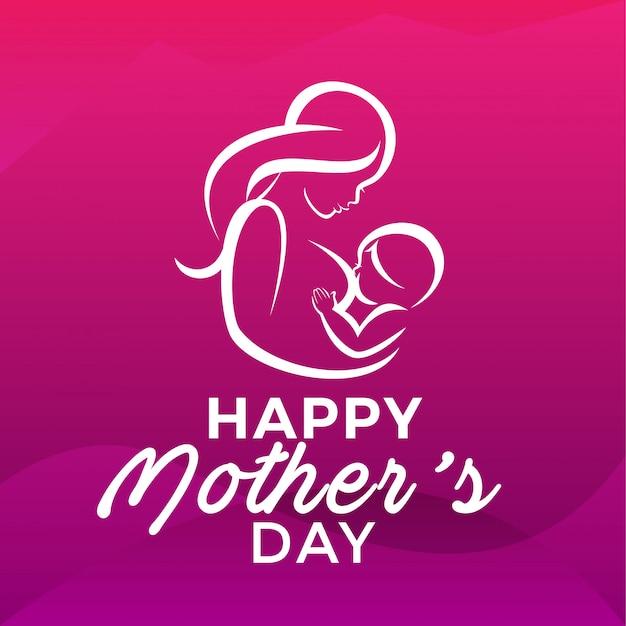 Bonne fête des mères Vecteur Premium