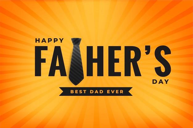 Bonne Fête Des Pères Meilleur Papa Jamais Jaune Vecteur gratuit