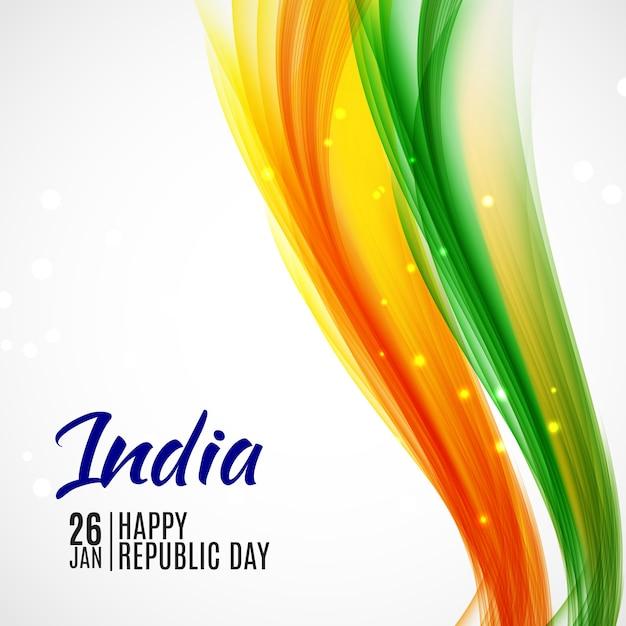 Bonne fête de la république de l'inde26 janvier. Vecteur Premium