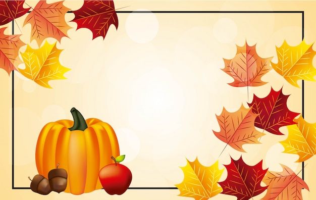 Bonne Fête De Thanksgiving Background Vecteur gratuit