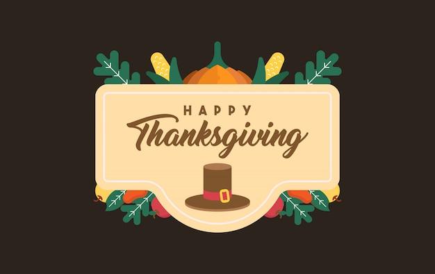 Bonne illustration de thanksgiving Vecteur Premium