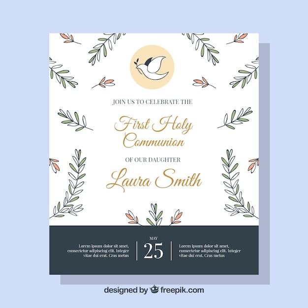 Bonne Invitation à La Communion Vecteur gratuit