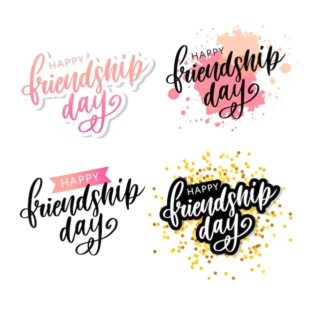 Bonne journée de l'amitié Vecteur Premium