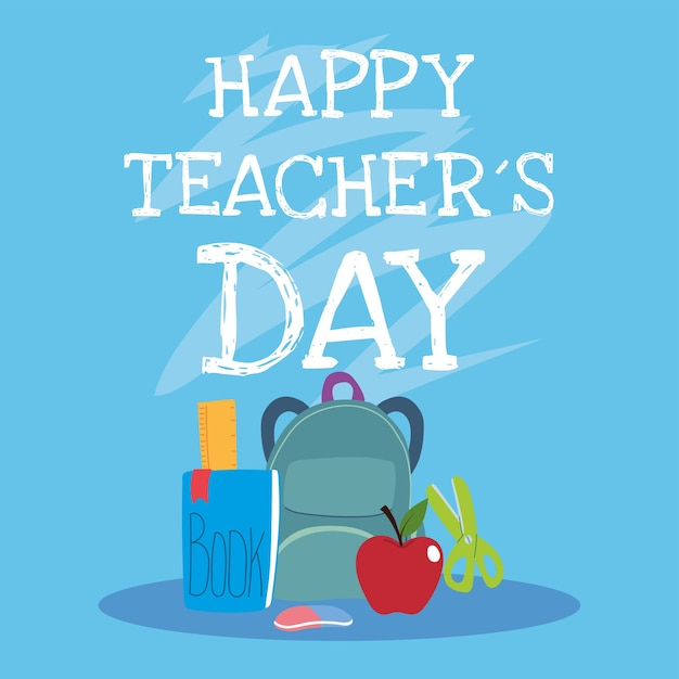 Bonne Journée Des Enseignants, Conception D'affiche, De Brochure, De Bannière Et De Carte De Voeux Vecteur Premium