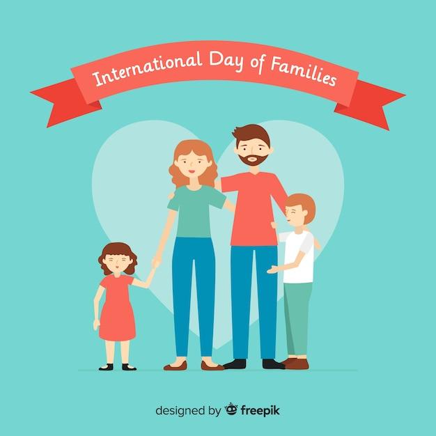 Bonne journée internationale des familles Vecteur gratuit