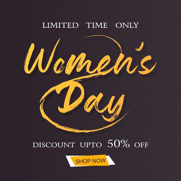 Bonne journée internationale de la femme le 8 mars Vecteur Premium