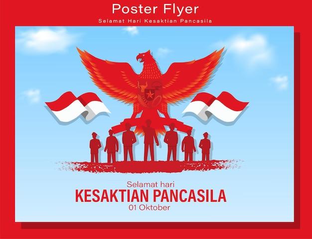 Bonne Journée Pancasila Vecteur Premium