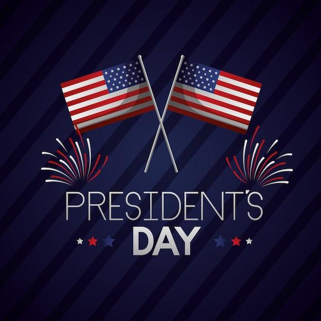 Bonne journée des présidents Vecteur gratuit