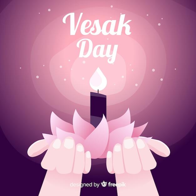 Bonne journée de vesak Vecteur gratuit