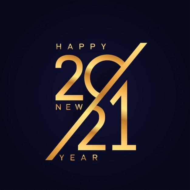 Bonne Nouvelle Année 2021 Vecteur Premium