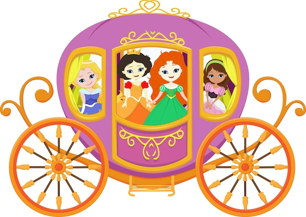 Bonne Princesse Avec Carrosse Royale Télécharger Des