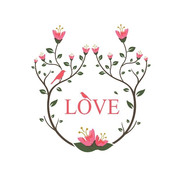 Bonne saint valentin amour Vecteur Premium