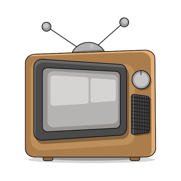 Une bonne vieille télé rétro Vecteur Premium