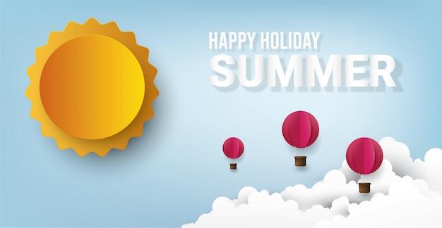 Bonnes vacances d'été. Vecteur Premium