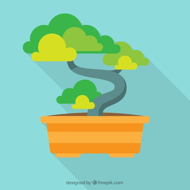 Bonsai tree illustration Vecteur gratuit