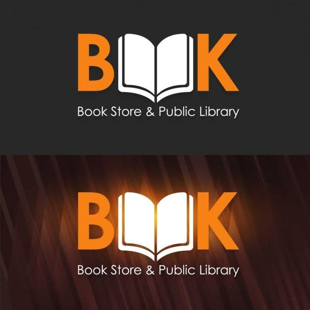 Book store et public library logo modèle Vecteur gratuit