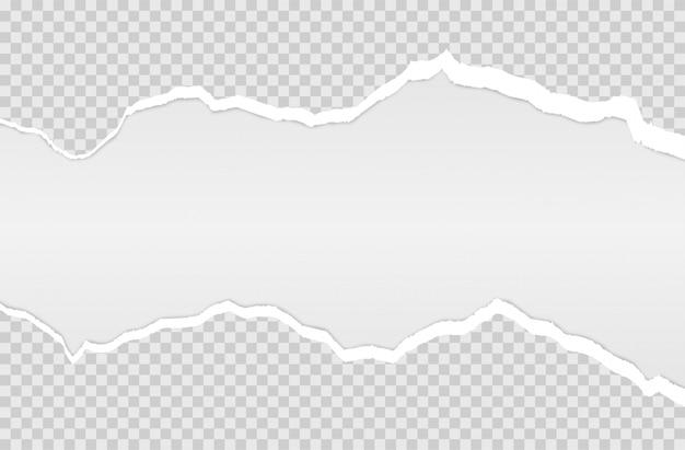 Bord de papier déchiré horizontal. Vecteur Premium