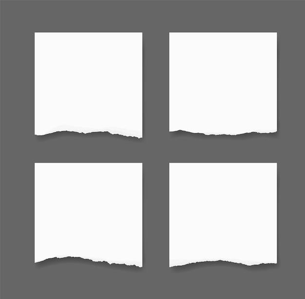 Bords de papier déchirés. fond de texture de papier déchiré. Vecteur Premium