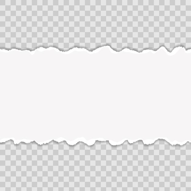 Bords de papier déchirés multicolores. design d'art. Vecteur Premium