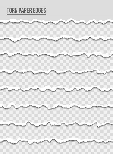 Bords de papier déchirés multicolores Vecteur Premium