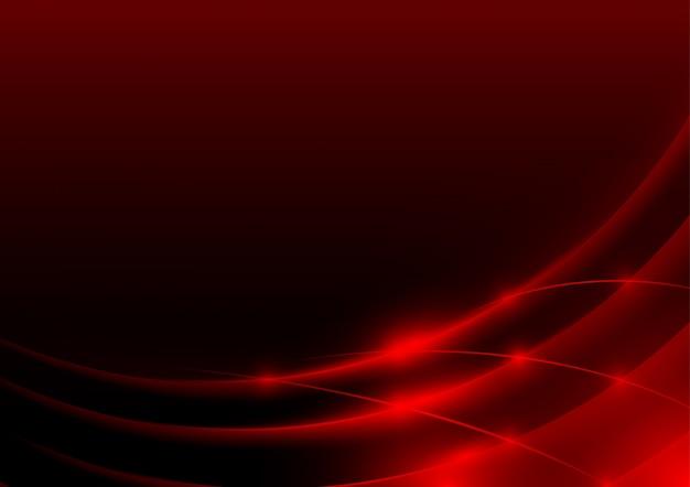Bords rougeoyants ou swooshes Vecteur Premium