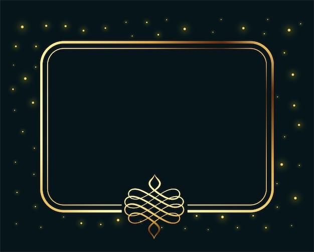Bordure De Cadre Royal Vintage Doré Avec Espace De Texte Vecteur gratuit